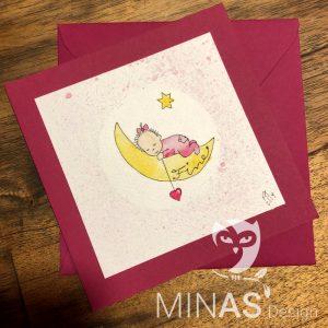 Babykarte Mond