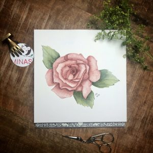 Rose Aquarell