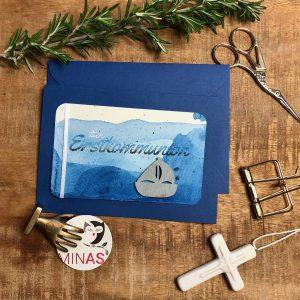 Erstkommunion Blau Boot