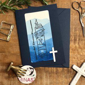 Erstkommunion Blau Kreuz