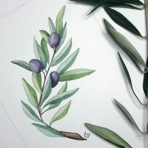 Olive blau