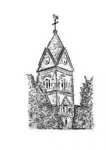 Zeichnung Kirche Langenfeld